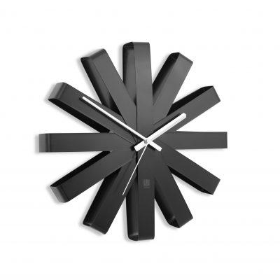 """UMBRA  Часовник за стена """"RIBBON"""" - цвят черен"""
