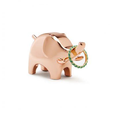 """UMBRA Поставка за пръстени """"ANIGRAM ELEPHANT"""" - слон - цвят мед"""