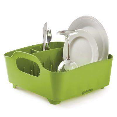 """UMBRA Сушилник за съдове """"TUB"""" - цвят зелен"""