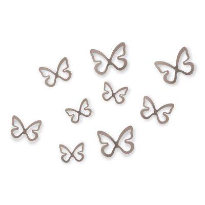 """UMBRA Комплект декорация за стена """"FLITTERBYE"""" - 8 бр. пеперуди - 4 размера"""