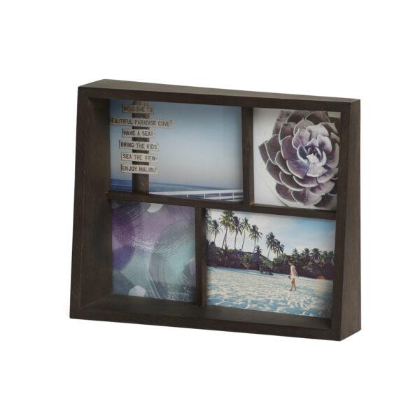 """UMBRA Рамка за снимки """"EDGE MULTI DESK"""" - цвят кафяв - за 4 снимки"""