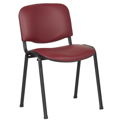 Посетителски стол Carmen 1131 LUX - бордо