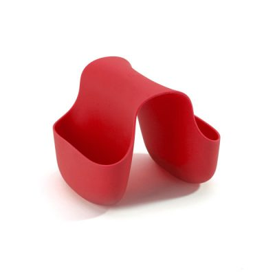 """UMBRA Аксесоар за мивка """"SADDLE"""" - двоен - цвят червен"""