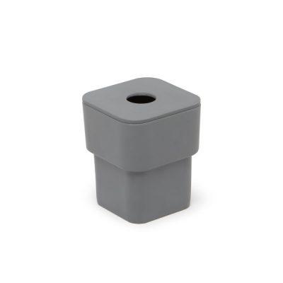 """UMBRA Канистер за почистващи тампони и клечки за уши """"SCILLAE"""" - с капак - цвят графит"""