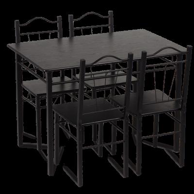 Комплект маса с 4 стола Carmen 20009 - венге