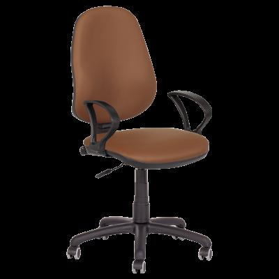 Офис стол Polo (с подлакътници) - кафяв N