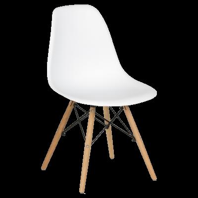 Трапезен стол Carmen 9957 S - бял