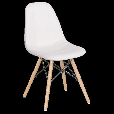 Трапезен стол Carmen 9962 - бял