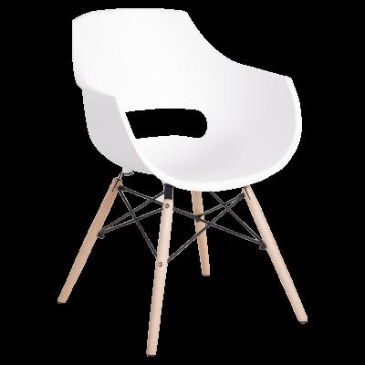 Трапезен стол Carmen 9965 - бял