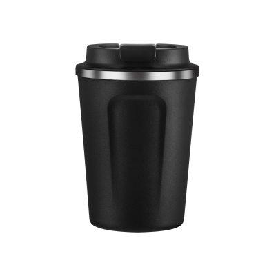 """ASOBU Двустенна термо чаша с вакуумна изолация """"CAFE COMPACT"""" - 380 мл - цвят черен"""