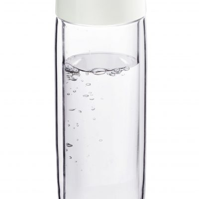"""ASOBU Двустенна стъклена термо бутилка """"SIMPLY CLEAR"""" - 400 мл - цвят червен"""