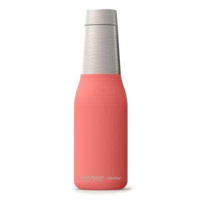 """ASOBU Двустенна термо бутилка с вакуумна изолация """"OASIS"""" - 600 мл - цвят праскова"""