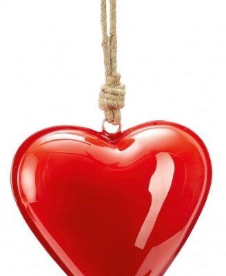 """PHILIPPI Сувенир сърце """"HAMBURGER"""" - S размер - цвят светло червен"""