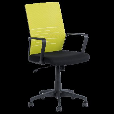 Работен офис стол Carmen 7041 - черен - зелен