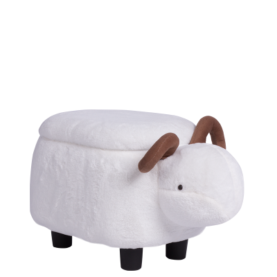 Детска табуретка с ракла - бял овен