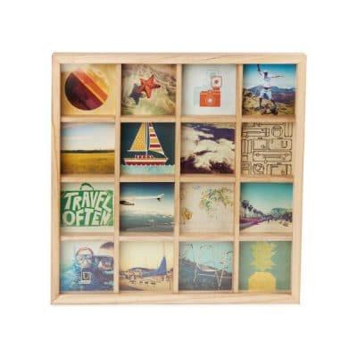 """UMBRA Колаж за снимки """"GRIDART"""" - цвят натурално дърво - за 16 снимки"""