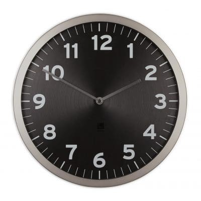 "UMBRA Стенен часовник ""ANYTIME"" - черен циферблат"