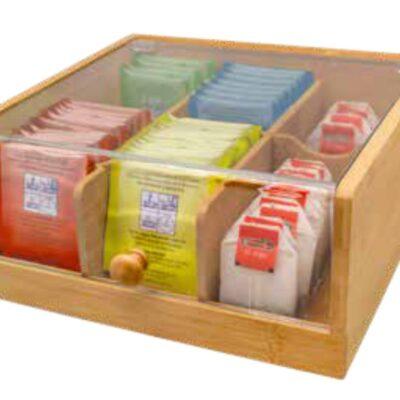 Nerthus Бамбукова кутия за съхранение на чай