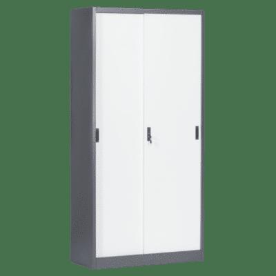 Метален шкаф Carmen CR-1266 E SAND - бял - графит