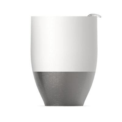 "ASOBU  Двустенна термо чаша ""IMPERIAL COFFEЕ"" - 300 мл - цвят бял/инокс"
