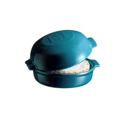 """EMILE HENRY Керамична форма за печене с капак """"CHEESE BAKER"""" - Ø 19 см - цвят син"""