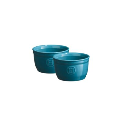"EMILE HENRY Комплект 2 броя керамични купички / рамекини ""RAMEKINS SET N°9"" - цвят син"