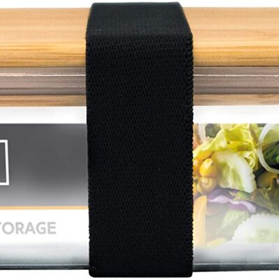 Nerthus Стъклена кутия за храна с херметическо затваряне и бамбуков капак - 1 л.