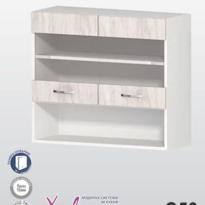Шкаф с две витрини с рафт и ниша Хавана G58