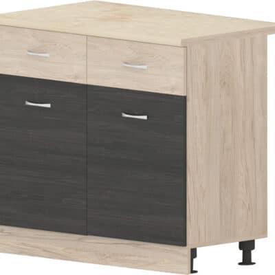 Шкаф с две врати и две чекмеджета Дорина B63