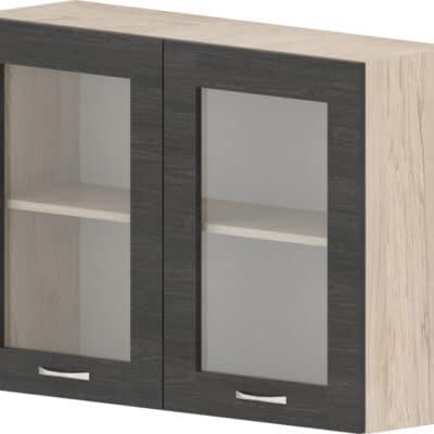 Шкаф с две витрини Дорина G27