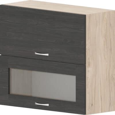 Шкаф с клапваща витрина и врата Дорина G41