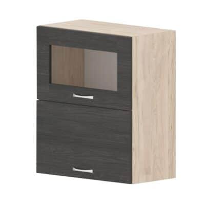 Шкаф с клапваща витрина и врата Дорина G44