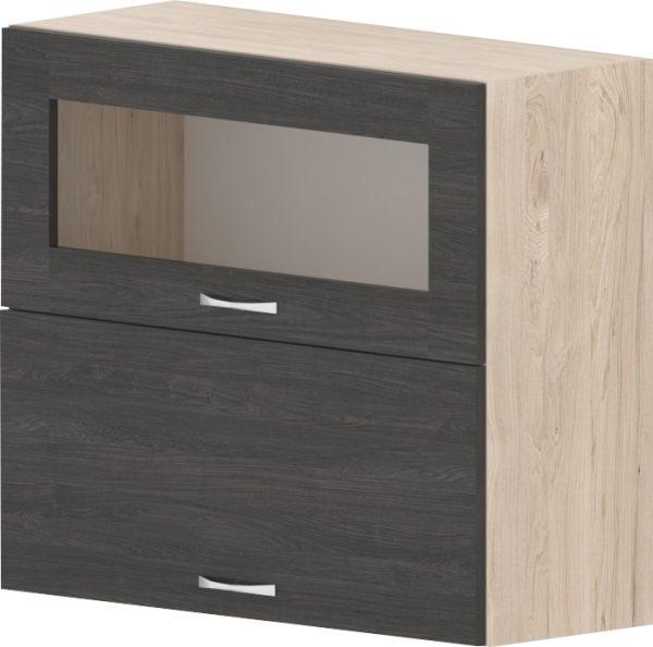 Шкаф с клапваща витрина и врата Дорина G45