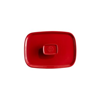 EMILE HENRY Керамичен правоъгълен капак за тави EH 9650 - цвят червен