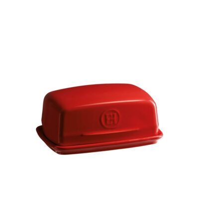 """EMILE HENRY Керамичен съд за масло """"BUTTER DISH"""" - цвят червен"""