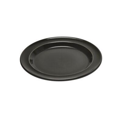 "EMILE HENRY Керамична десертна чиния ""SALAD/DESSERT PLATE""- цвят черен"