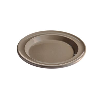 "EMILE HENRY Керамична десертна чиния ""SALAD/DESSERT PLATE""- цвят сиво-бежов"