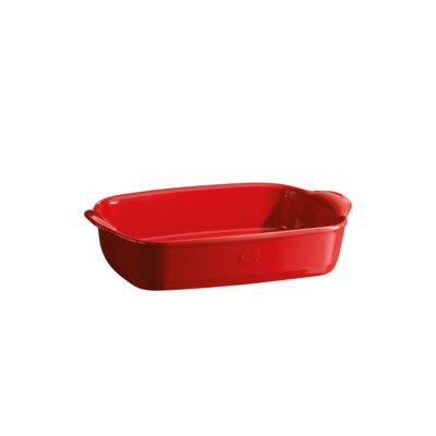 """EMILE HENRY Керамична тава """" SMALL RECTANGULAR OVEN DISH""""- 30х19 см - цвят червен"""