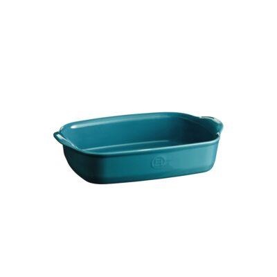 """EMILE HENRY Керамична тава """" SMALL RECTANGULAR OVEN DISH""""- 30х19 см - цвят син"""