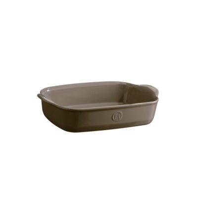 """EMILE HENRY Керамична тава """" SMALL RECTANGULAR OVEN DISH""""- 30х19 см - цвят сиво-бежов"""