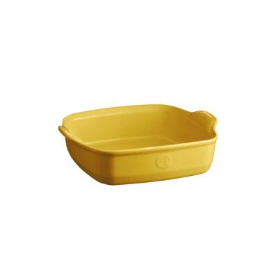 """EMILE HENRY Керамична тава """"SQUARE OVEN DISH""""- 22х22см - цвят жълт"""