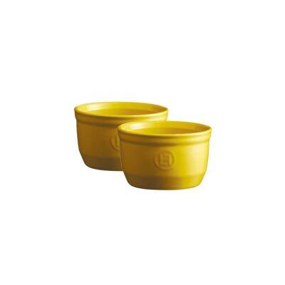 "EMILE HENRY Комплект 2 броя керамични купички / рамекини ""RAMEKINS SET N°10"" - цвят жълт"