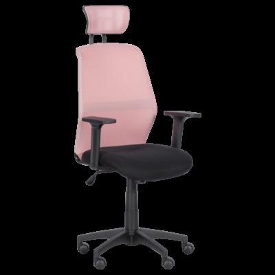 Президентски офис стол Carmen 7535 - розово - черен